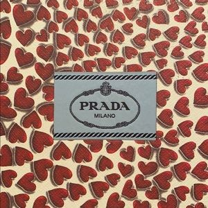 Prada Hearts Print Pumps (red)